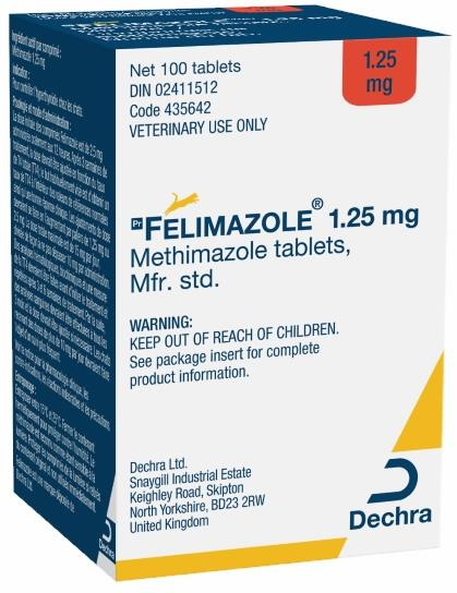 Felimazole® 1.25 mg methimazole tablets for cats
